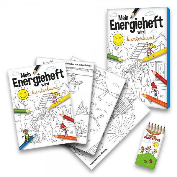 Malbuch Energie Set