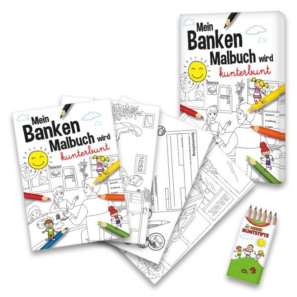 Malbuch Banken-Set