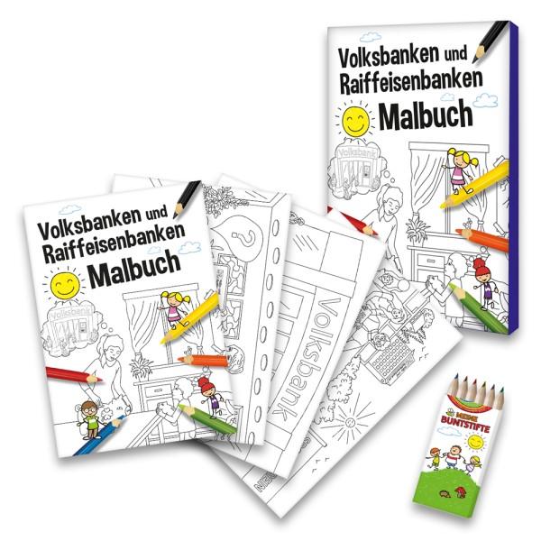 Malbuch VR-Banken-Set
