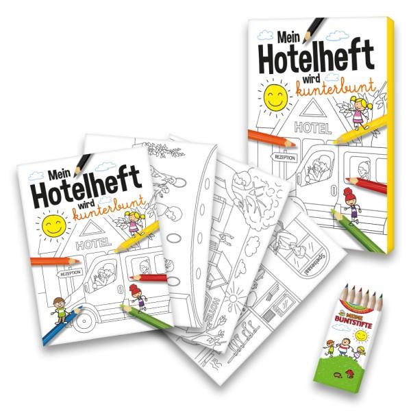 Malbuch Hotel und Restaurant-Set